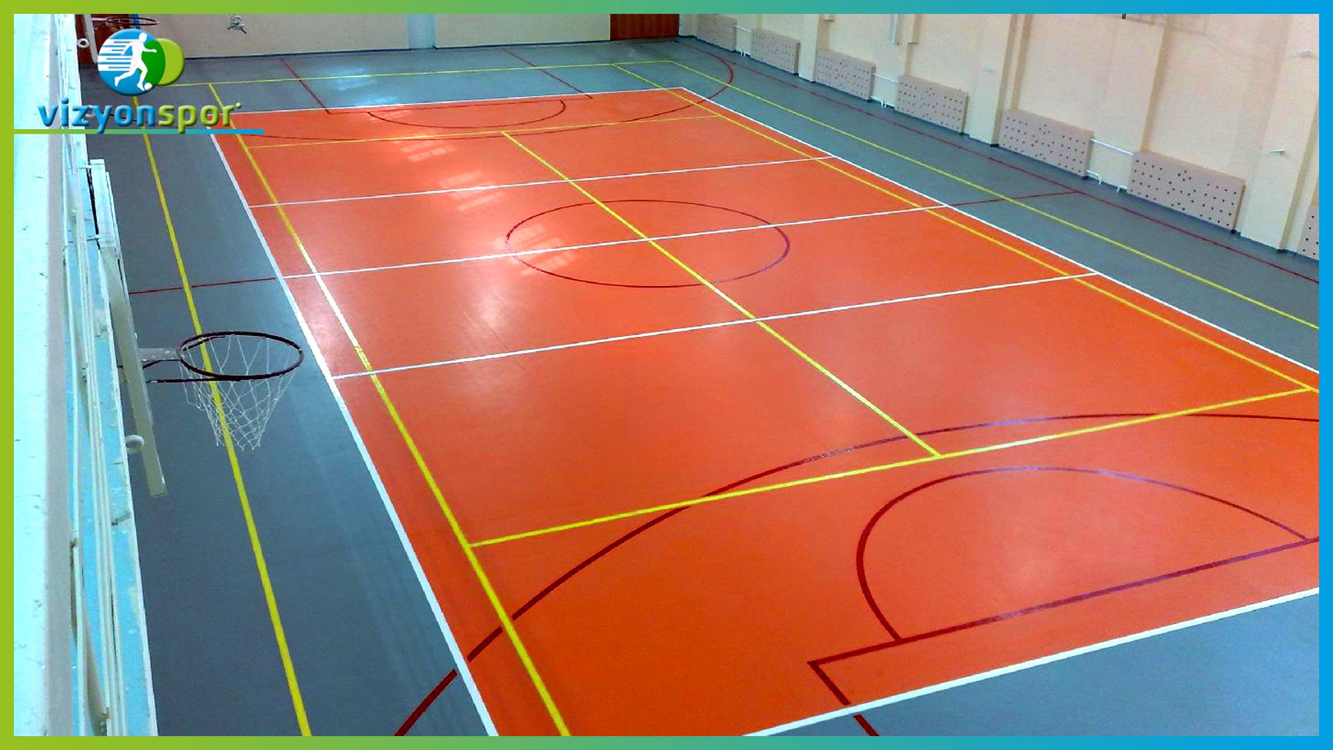 akrilik basketbol sahası, akrilik saha, akrilik basketbol, basketbol sahası,